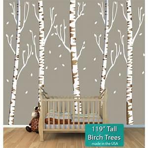 Birch Tree Murals For Nursery Or Baby Room