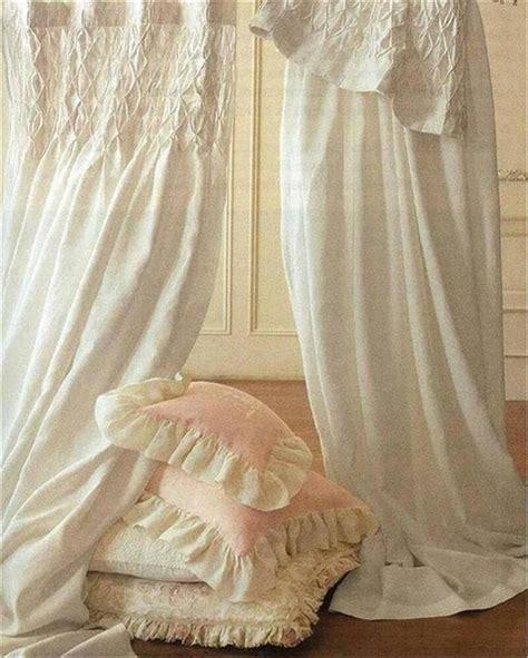Gardinen Shabby Chic by Shabby Country Curtains Drapery 2 Ivory