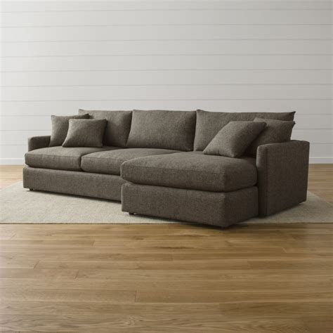 lounge ii 2 piece right arm chaise sectional sofa crate