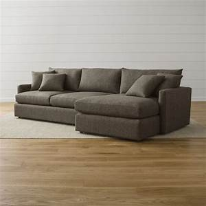 lounge ii 2 piece right arm chaise sectional sofa crate With sectional sofa no chaise