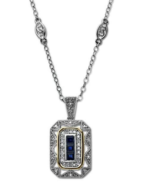 Art Deco Sapphire Bridal Necklace