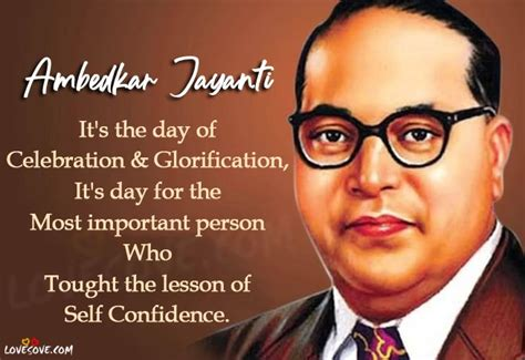 Dr. Bhimrao Ambedkar Jayanti Quotes & Messages In English
