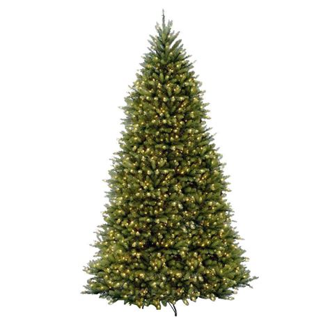 fake tree with lights national tree company 12 ft pre lit dunhill fir hinged