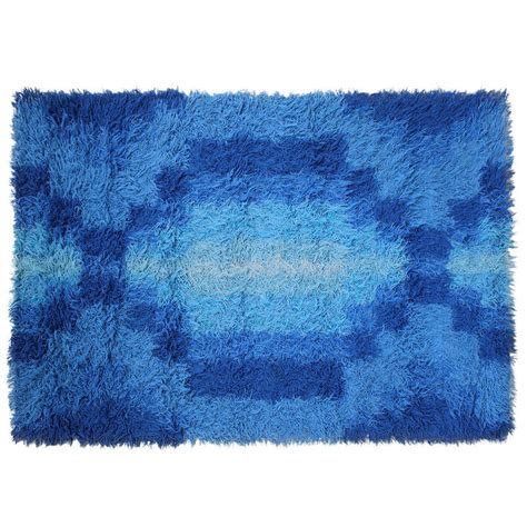 mid century modern rugs mid century modern geometric print scandinvian rya rug at