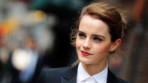 full hd wallpaper emma watson makeup brown eyes actress