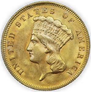 Value of 1878 3 Dollar Gold Coin