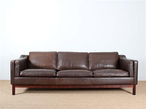 canapé danois 3 places en cuir galerie møbler