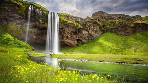 Space Wallpapers Hd 1080p Cold Waterfall In The Nature Hd Wallpaper