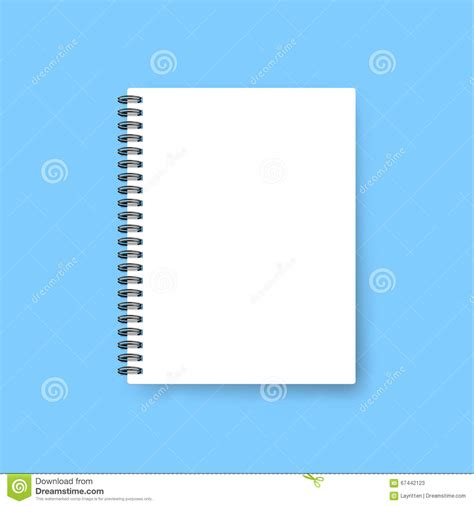 realistic notebook template blank cover design mock