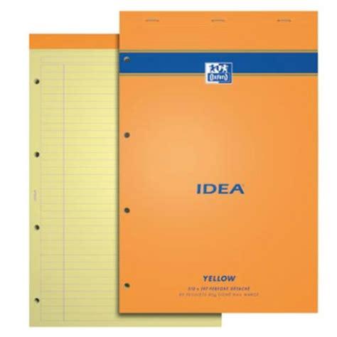bloc note sur bureau oxford bloc bureau 21 x 31 5 ligné perforé 80 pages jaunes