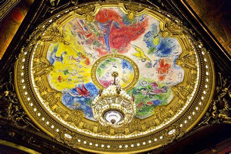 les fresques de chagall au plafond de l op 233 ra garnier