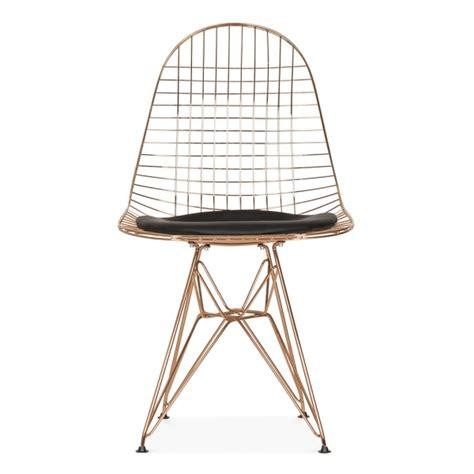 chaise en fil de fer chaise de style dkr fil de fer cuivre chaise en métal cult uk