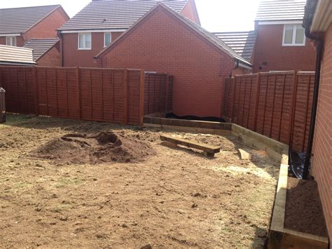 paving raised sleeper beds  garden lighting wardens