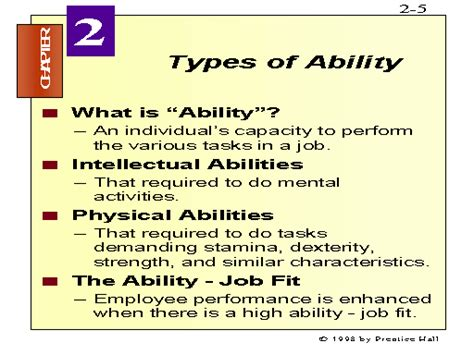 types of ability