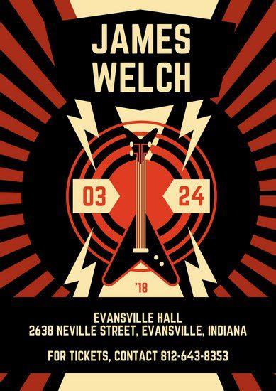 customize  concert poster templates  canva