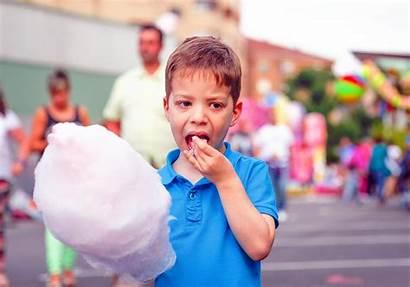 Candy Cotton Fair Kind Verwend Eating Kid