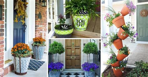 front door flower pots  liven   home