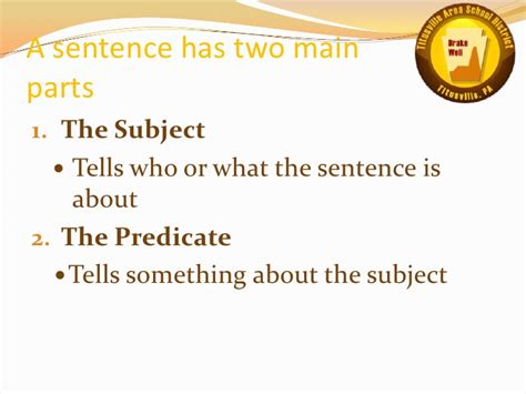Complete Subjects And Predicates Examples