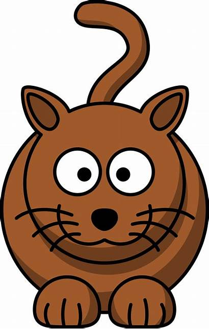 Cartoon Clipart Animal Cliparts Clip Cat Attribution