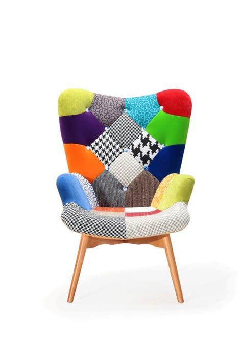 fauteuil nordique design patchwork