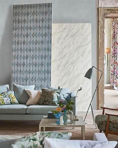 Harlequin Marble Fresco Florals Subtle Foscari Guild