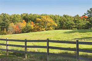 Wooden Fence In Autumn Maine Farm Pasture Photograph by