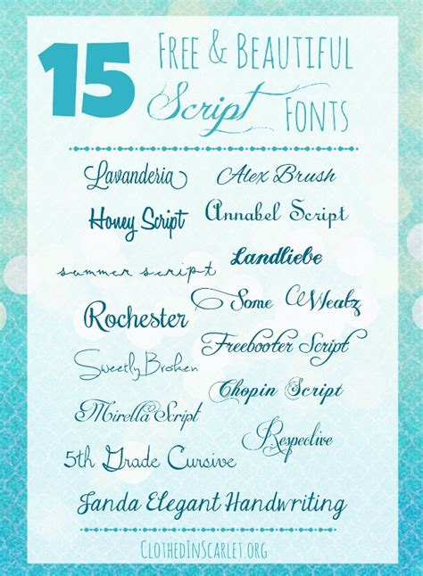 Beautiful Scripts And Fonts by 15 Free And Beautiful Script Fonts Clothed In Scarlet