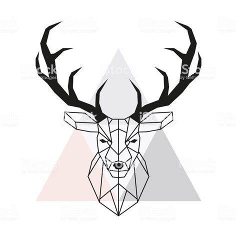 tete de vecteur de cerf geometrique tete de cerf  bois