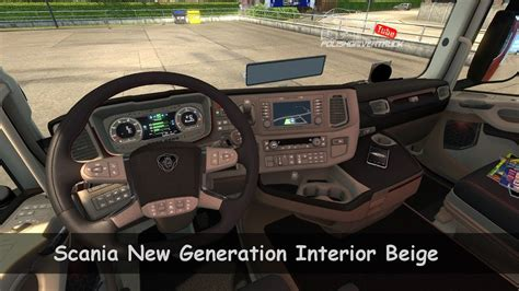 [ets2. V1.30]...pdt...scania New Generation Interior Beige