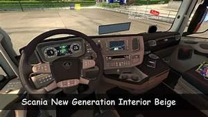 [ETS2. V1.30]...PDT...Scania New Generation Interior Beige ...