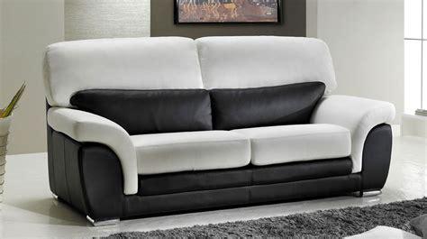 canapé 3 2 places canapé 3 places en cuir noir et blanc pas cher direct usine