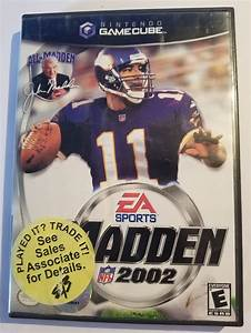 Nintendo Gamecube Ea Sports Madden 2002 Football Video
