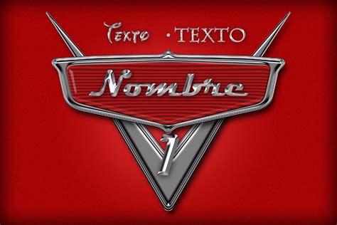 Cars Logo by Logo Personalizado Tipo Cars 2 49 00 En Mercado Libre