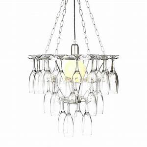 Tier champagne flute glass chandelier silver from