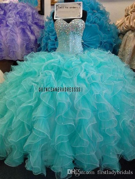 mint green quinceanera ball gowns dresses ruffles