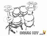 Drum Coloring Drums Kit Printable Pages Printables Kits Yescoloring Musical Boys Pounding sketch template