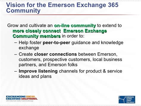 how the emerson exchange 365 online community benefits you