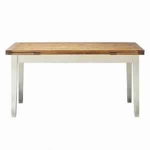 Table Extensible Bois Massif : table manger extensible en bois massif 8 10 personnes l160 tradition maisons du monde ~ Teatrodelosmanantiales.com Idées de Décoration