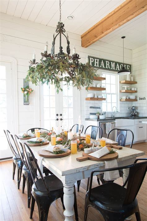joanna gaines kitchen table ideas a winter dinner chip and joanna gaines fixer