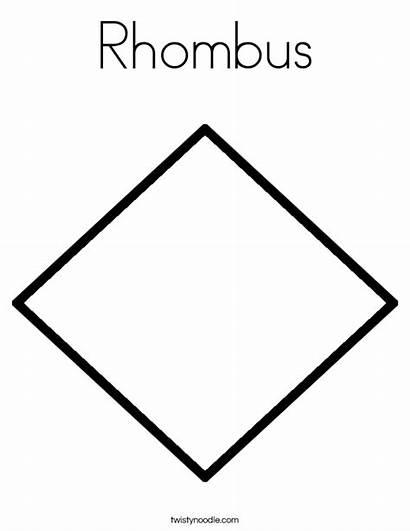 Coloring Rhombus Worksheet Template Change Built California