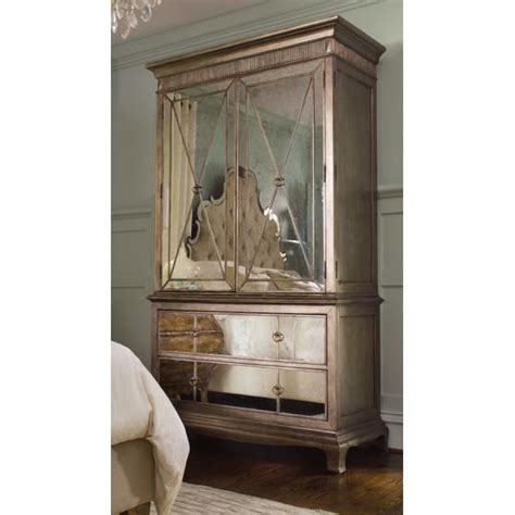 borghese mirrored armoire