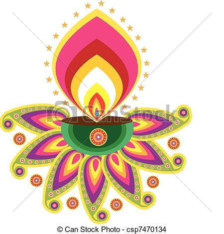 Eps Vector Of Indian Oil Lamp Pattern Csp7470134 Search