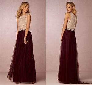 burgundy tutu skirt bridesmaid dresses 2016 champagne lace With wedding prom dresses
