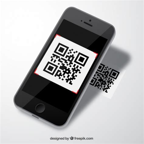 Mobile With Qr Code Vector  Free Download