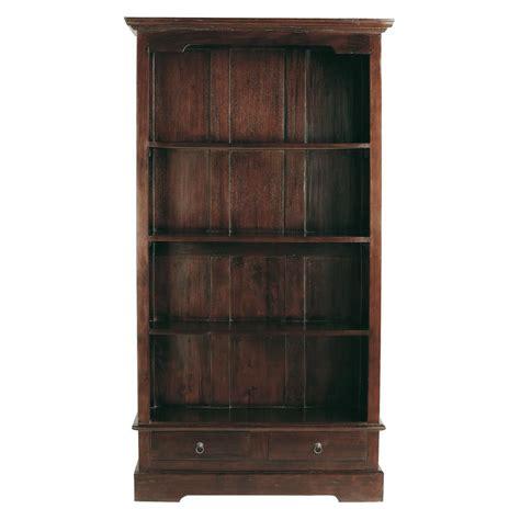 biblioth 232 que en mahogany massif l 98 cm cubana maisons du monde