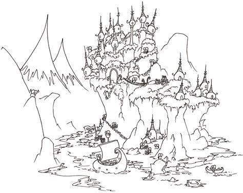 christmas penguin island coloring page bluebisonnet