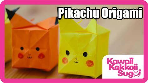 Pokemon Origami Pikachu Head