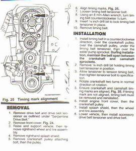 2001 Ford Focus Zx3  Broke Timing Belt  No Timing Marks