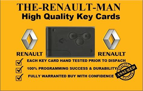 Renault Megane Scenic Clio 3 Button Remote Key Card