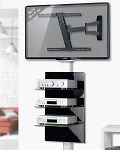 Wandregal Für Fernseher : stabile fernseher wandhalterung mit schwenkarm und ~ Michelbontemps.com Haus und Dekorationen